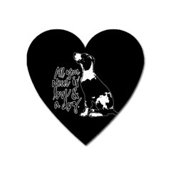 Dog Person Heart Magnet by Valentinaart