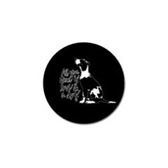 Dog Person Golf Ball Marker (4 Pack) by Valentinaart