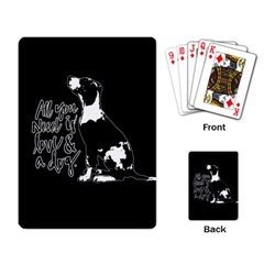 Dog Person Playing Card by Valentinaart