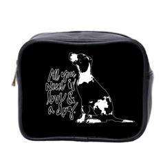 Dog Person Mini Toiletries Bag 2 Side by Valentinaart