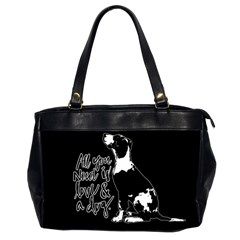 Dog Person Office Handbags (2 Sides)