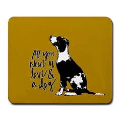 Dog Person Large Mousepads by Valentinaart