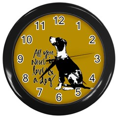 Dog Person Wall Clocks (black) by Valentinaart