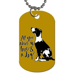 Dog Person Dog Tag (one Side) by Valentinaart
