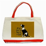 Dog person Classic Tote Bag (Red) Front