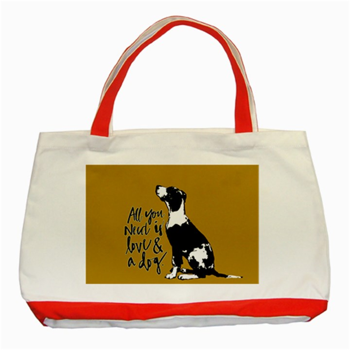 Dog person Classic Tote Bag (Red)