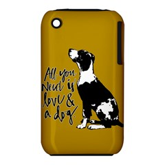 Dog Person Iphone 3s/3gs by Valentinaart