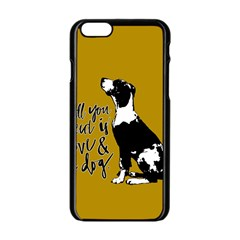 Dog Person Apple Iphone 6/6s Black Enamel Case by Valentinaart
