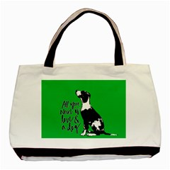 Dog Person Basic Tote Bag by Valentinaart