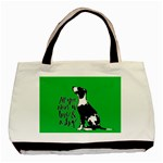 Dog person Basic Tote Bag Front
