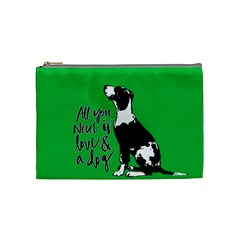 Dog Person Cosmetic Bag (medium)  by Valentinaart