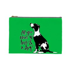Dog Person Cosmetic Bag (large)  by Valentinaart