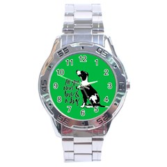 Dog Person Stainless Steel Analogue Watch by Valentinaart