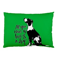 Dog Person Pillow Case (two Sides) by Valentinaart