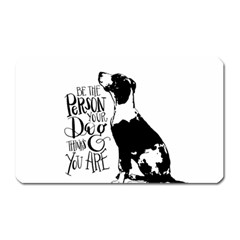 Dog Person Magnet (rectangular) by Valentinaart