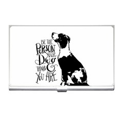 Dog Person Business Card Holders by Valentinaart