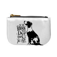Dog Person Mini Coin Purses by Valentinaart