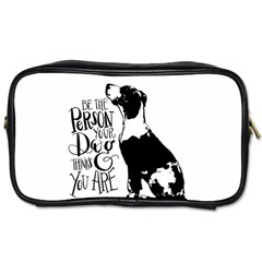 Dog Person Toiletries Bags by Valentinaart