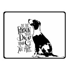 Dog Person Fleece Blanket (small) by Valentinaart