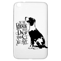 Dog Person Samsung Galaxy Tab 3 (8 ) T3100 Hardshell Case  by Valentinaart