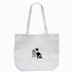 Dog Person Tote Bag (white) by Valentinaart