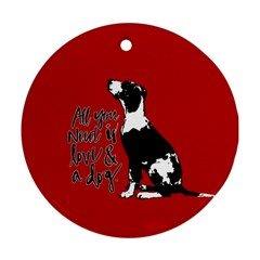 Dog Person Round Ornament (two Sides) by Valentinaart