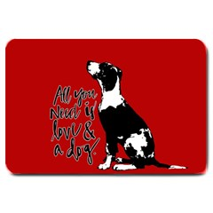 Dog Person Large Doormat  by Valentinaart