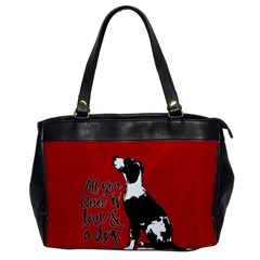 Dog Person Office Handbags by Valentinaart