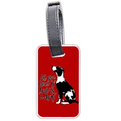 Dog Person Luggage Tags (one Side)  by Valentinaart