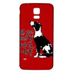 Dog Person Samsung Galaxy S5 Back Case (white) by Valentinaart