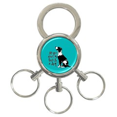 Dog Person 3 Ring Key Chains