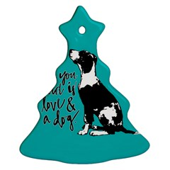 Dog Person Christmas Tree Ornament (two Sides) by Valentinaart