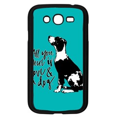 Dog Person Samsung Galaxy Grand Duos I9082 Case (black) by Valentinaart