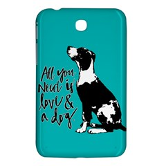 Dog Person Samsung Galaxy Tab 3 (7 ) P3200 Hardshell Case  by Valentinaart