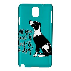 Dog Person Samsung Galaxy Note 3 N9005 Hardshell Case by Valentinaart
