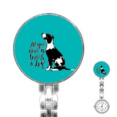 Dog Person Stainless Steel Nurses Watch by Valentinaart