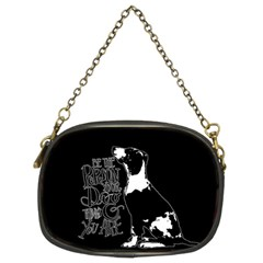 Dog Person Chain Purses (two Sides)  by Valentinaart