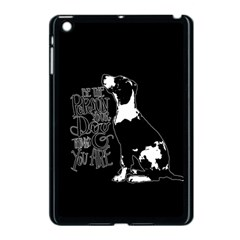 Dog Person Apple Ipad Mini Case (black) by Valentinaart