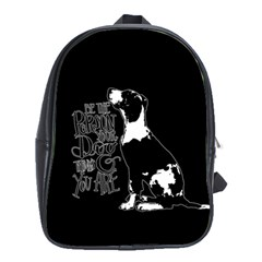 Dog Person School Bags (xl)  by Valentinaart