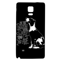 Dog Person Galaxy Note 4 Back Case by Valentinaart