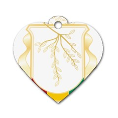 Coat Of Arms Of Republic Of Guinea  Dog Tag Heart (one Side) by abbeyz71