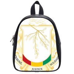 Coat Of Arms Of Republic Of Guinea  School Bags (small)