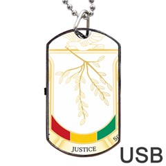 Coat Of Arms Of Republic Of Guinea  Dog Tag Usb Flash (one Side)