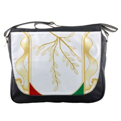 Coat Of Arms Of Republic Of Guinea  Messenger Bags