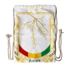 Coat Of Arms Of Republic Of Guinea  Drawstring Bag (large)