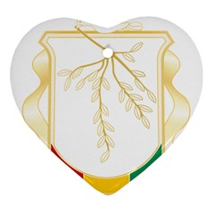 Coat Of Arms Of Republic Of Guinea  Ornament (heart) by abbeyz71