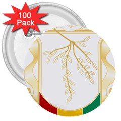 Coat Of Arms Of Republic Of Guinea  3  Buttons (100 Pack)