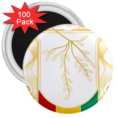 Coat Of Arms Of Republic Of Guinea  3  Magnets (100 Pack)