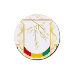 Coat Of Arms Of Republic Of Guinea  Rubber Coaster (round)  by abbeyz71