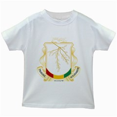 Coat Of Arms Of Republic Of Guinea  Kids White T Shirts